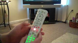 getting the universal media remote to work properly for tv xbox 360