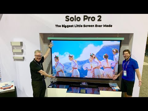 Screen Innovations 120 Inch ROLLABLE TV |Best Picture Quality! UST Projection CEDIA 2019