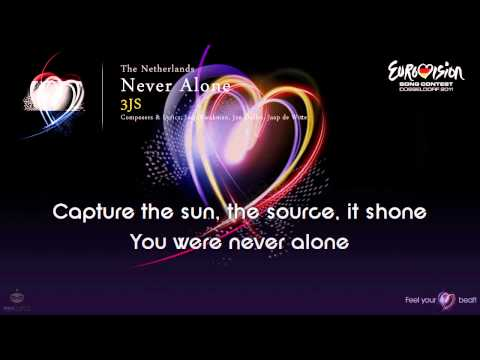 "3JS - ""Never Alone"" (The Netherlands) - [Karaoke version]"