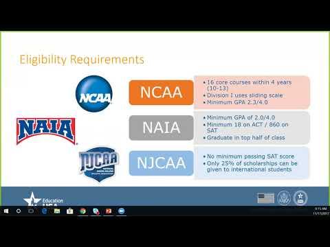 U.S. University Athletics & Scholarship Eligibility