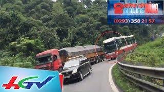 Xe khách vượt ẩu kiểu 'giết người' trên đường đèo ở Đà Lạt | ĐƯỜNG DÂY NÓNG ONLINE - 30/11/2017