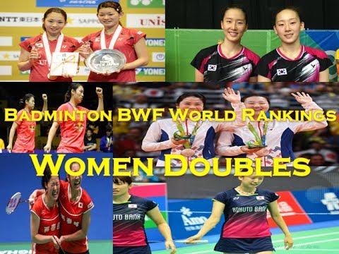 Badminton BWF World Rankings Women Doubles (05/04/2017)