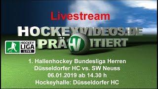 1. Hallenhockey-Bundesliga Herren DHC vs. SWN 06.01.2019 Livestream
