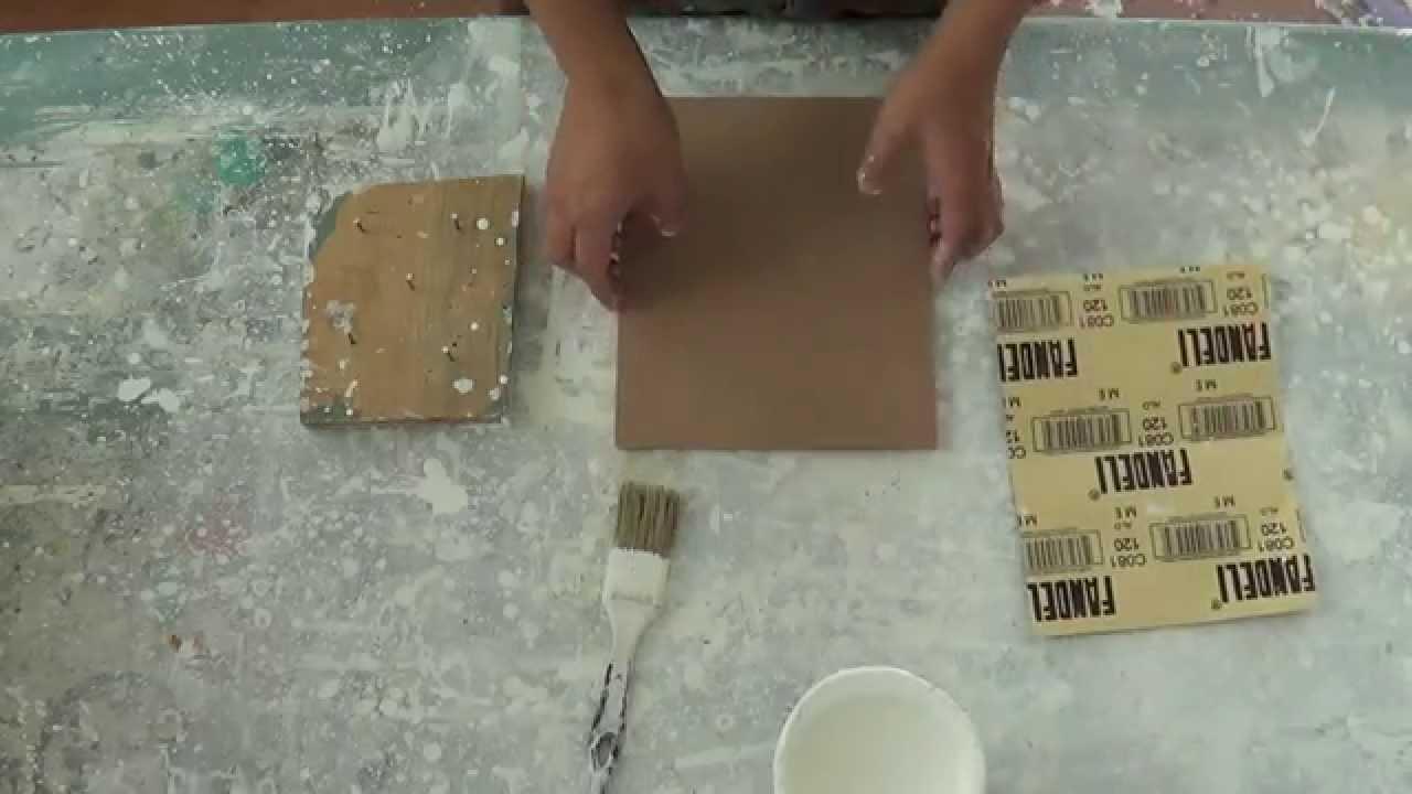 Imprimatura de madera para pintar con óleo o acrílico. Curso de ...