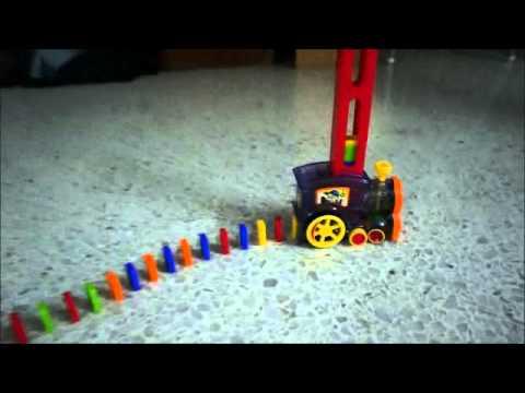 Domino Laying Train.
