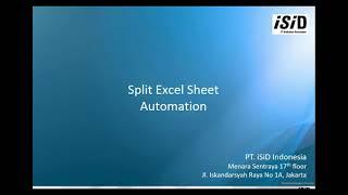Tutorial Automasi Split Excel Sheet into Multiple Sheets menggunakan UiPath StudioX