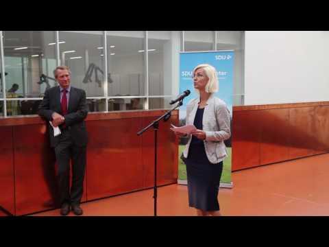 Ulla Tørnæs: Det er mig en stor glæde i dag at kunne bevilge 30 millioner kroner til projektet.