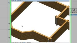 Этап 06. Построение стен. Этапы проектирования деревянного дома в программе АТ Венцы ARCHICAD