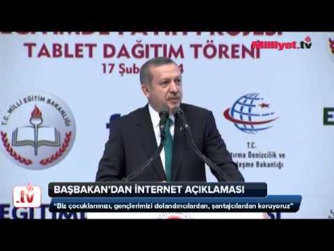 Başbakan Erdoğan'dan internet açıklaması