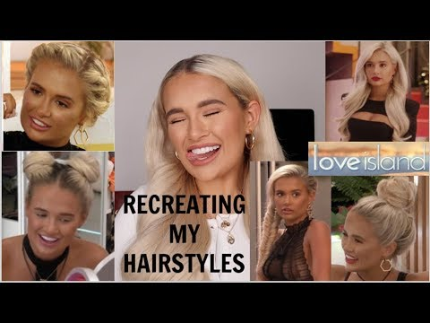 RECREATING THE HAIRSTYLES I WORE ON LOVE ISLAND | MOLLYMAE