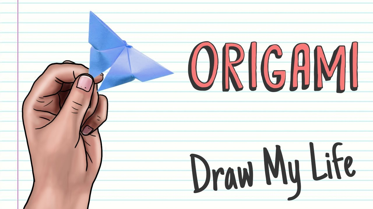 ORIGAMI: HOW TO MAKE A BUTTERFLY AND A PAPER FROG | Draw My Life | DIY