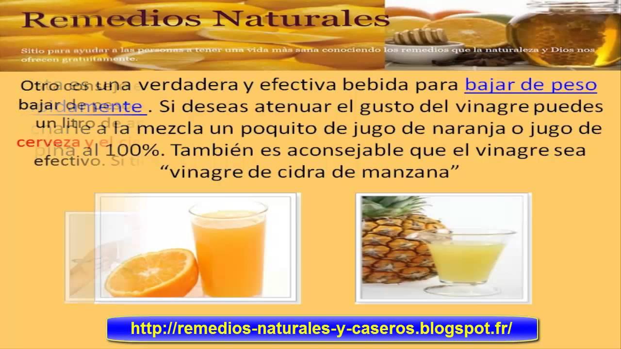Como bajar de peso remedios naturales