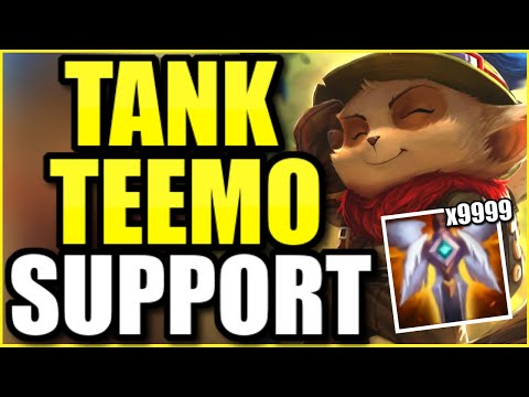 Good luck EVER killing this TANKY TEEMO SUPPORT!  (ABSOLUTELY INSANE GAME)