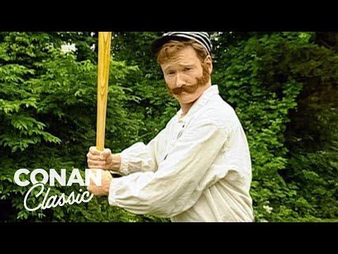 Conan Plays Old Timey Baseball - Conan25: The Remotes
