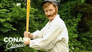 Conan Plays Old Timey Baseball  'Late Night With Conan O'Brien'
