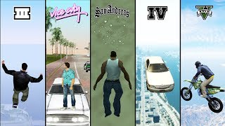 Falling from SKY in GTA games! (GTA 3 vs VC vs SA vs IV vs V)