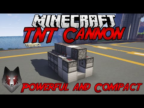 how to build the most powerful tnt cannon in minecraft