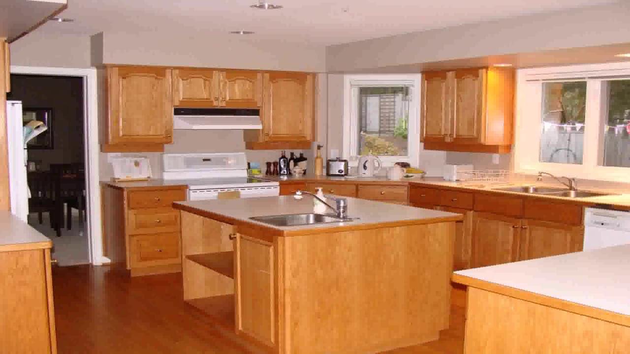 Kitchen Backsplash Ideas With Honey Oak Cabinets | Dandk ...