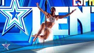 VUELA por el escenario con su INCREÍBLE POLE AÉREO | Audiciones 6 | Got Talent España 5 (2019)