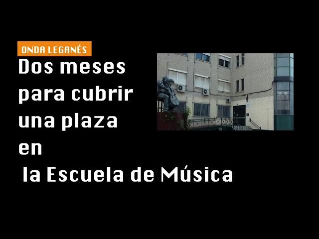 Dos meses para cubrir una plaza en la Escuela Conservatorio de música