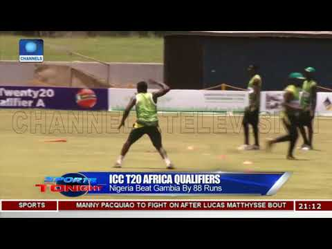 Nigeria Beat Gambia By 88 Runs In ICC T20 Africa Qualifiers |Sports Tonight|