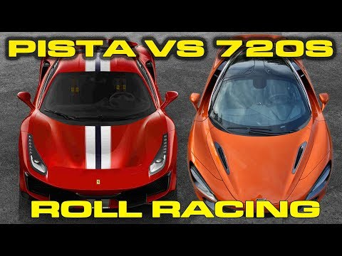 Ferrari 488 Pista vs McLaren 720S Roll Racing