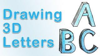 Art Fundamentals - Drawing 3D Letters