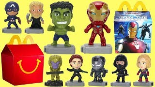 Showing the 2019 Avengers Endgame McDonald's Happy Meal Toys