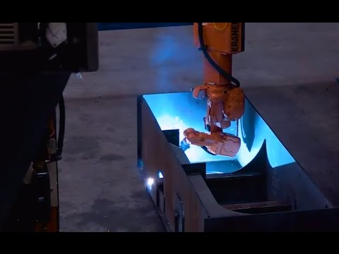 Double Hull Welding Gantry - Automatic robot welding of large structures