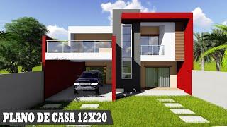 PLANOS DE CASAS MODERNAS 12X20M Fachadas de casas modernas 2020 arquitectura 🏡 casas modernas 2020 YouTube
