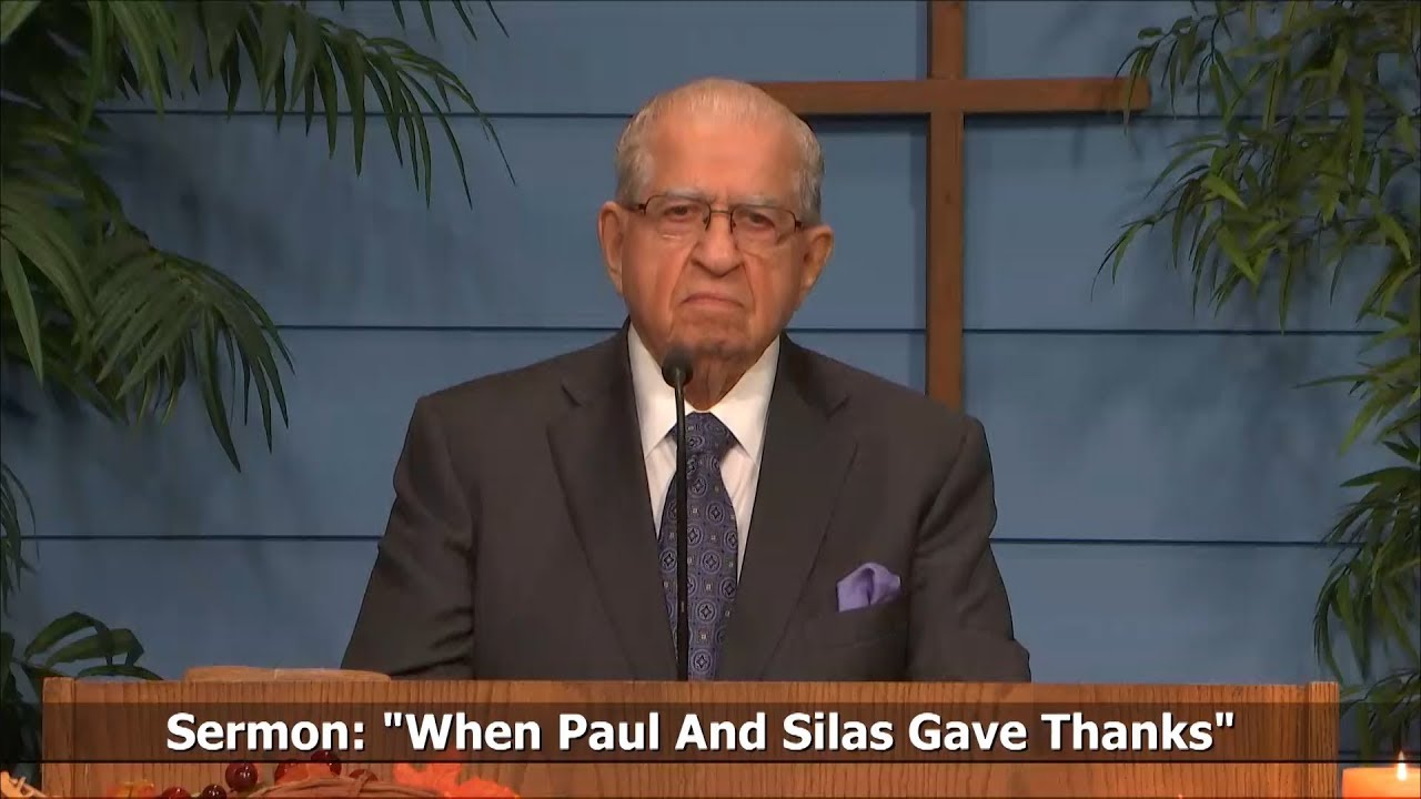 Acts 16 25 34 When Paul and Silas Gave Thanks