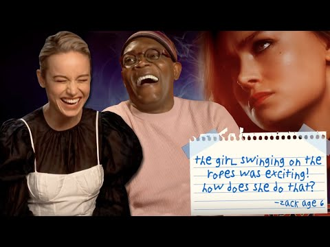 Brie Larson & Samuel L Jackson Answer Kids' Questions About 'Captain Marvel' | PopBuzz Meets