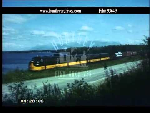 Alaska Railroad 1970's.  Archive film 93649
