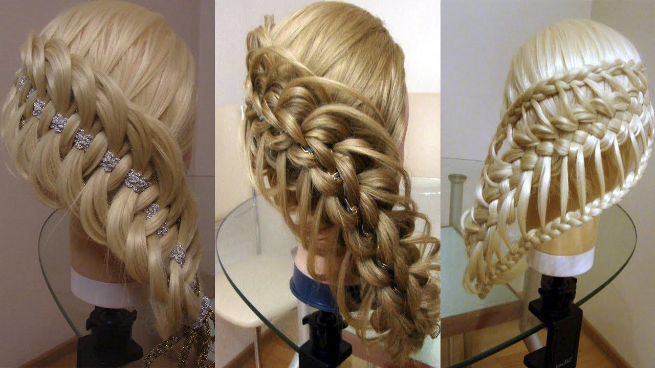 Диагональные косы Причёски на каждый день Косы в школу Курс плетения кос