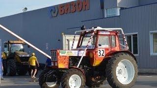 Построение и выезд тракторов на БизонТрекШоу-2013