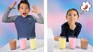 Twin Telepathy Milkshake Challenge! Bruder vs. Schwester | Wir sind Zwillinge? | Johann Loop