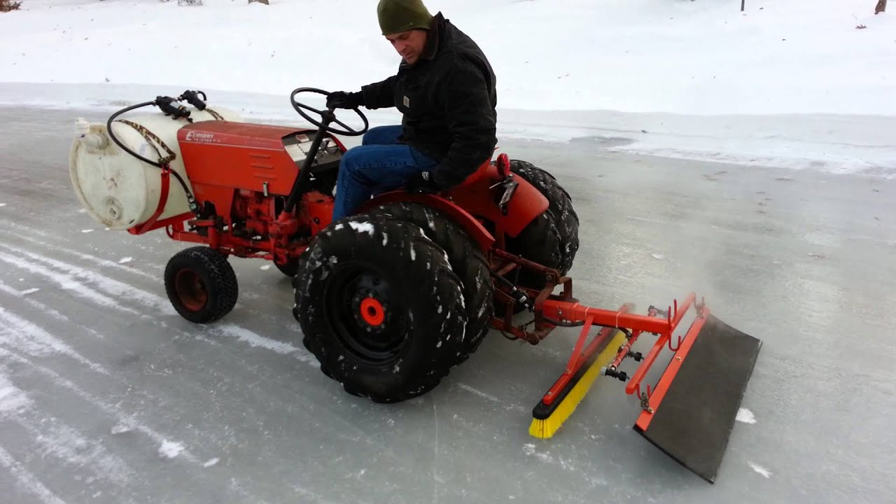 Homemade Zamboni Jim Dandy Tractor - YouTube