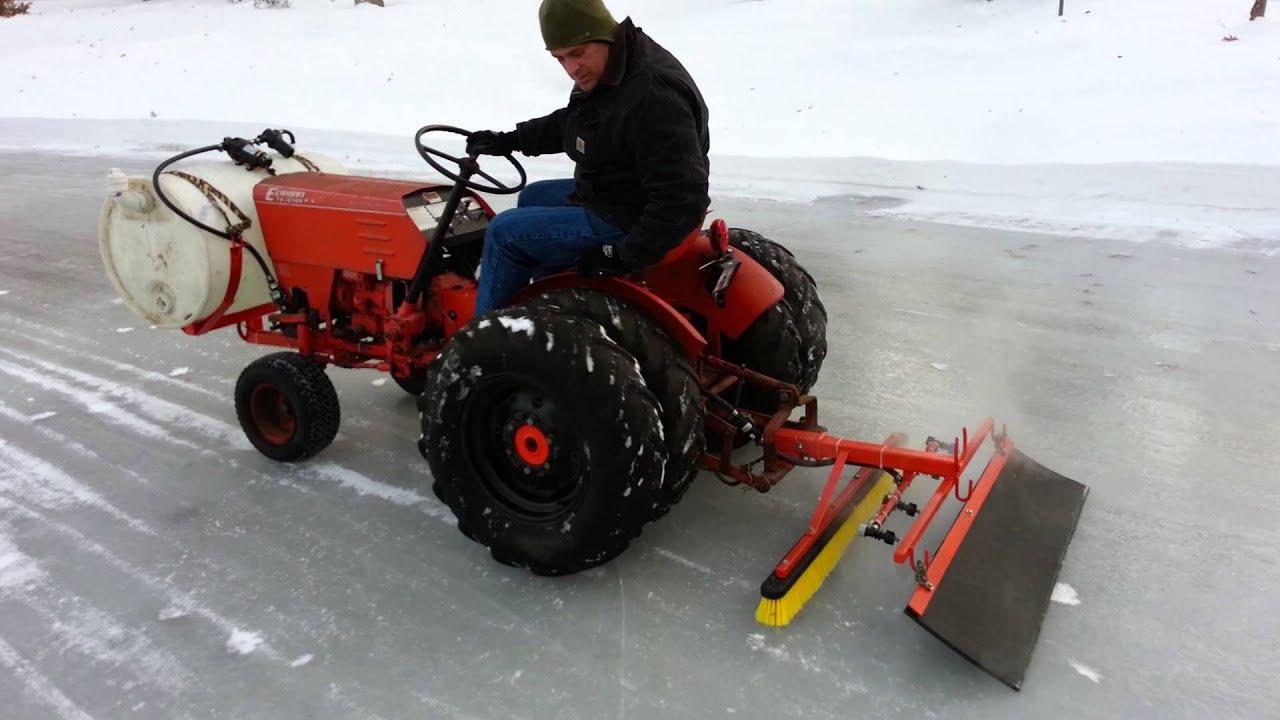 Homemade Zamboni Jim Dandy Tractor Youtube