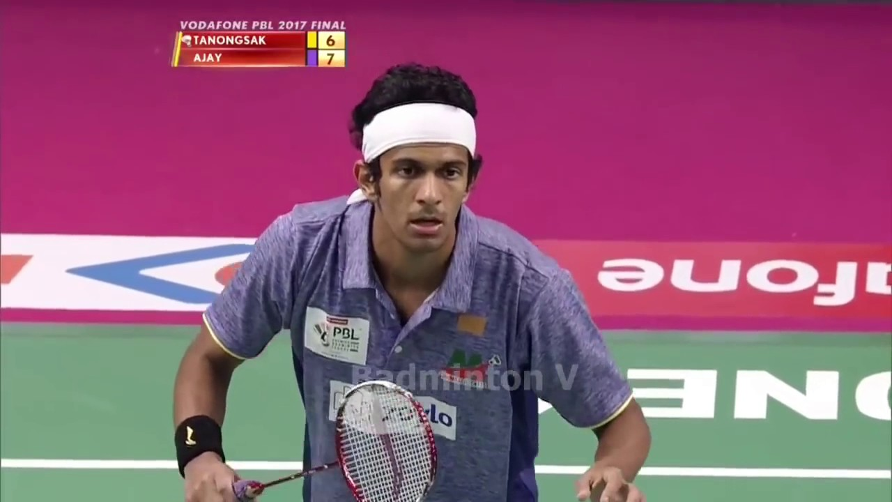 Badminton 2017 Premier Final Tanongsak Saensomboonsuk vs Ajay