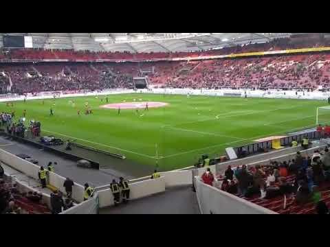 Vfb Stuttgart vs Fc Bayern München warm machen Bayern Spieler am 16.12.17