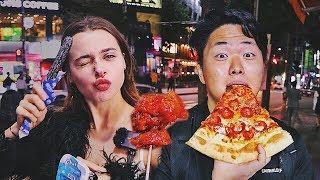 Уличная Еда на Хондэ! Самая вкусная пицца, острая курица, чуррос OREO