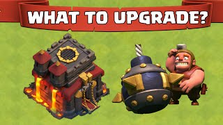Clash Of Clans What To Upgrade First At TH10 | Upgrading Order At TH10