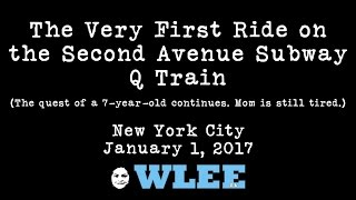 The Very First Ride on the NYC Second (2nd) Avenue Subway Q Train to Arrive at 96th Street