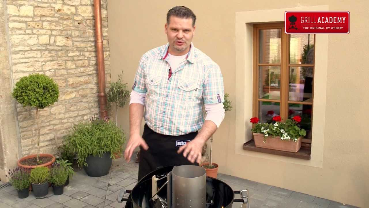 Weber Holzkohlegrill Richtig Anheizen : Weber grill anheizen youtube