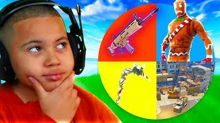 Fortnite But MYSTERY WHEEL *CONTROLS* The Way My Little Brother Plays it!