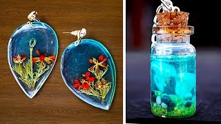 5 IDEAS FOR CHARMING JEWELRY MADE FROM POLYMER CLAY AND EPOXY RESIN