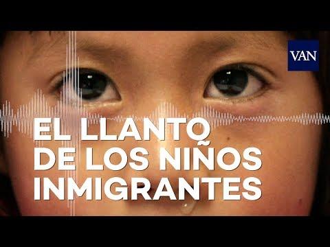 O pranto de nenos inmigrantes separados de seus pais na fronteira con México