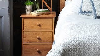 Georgian Oak Bedside Cabinet - Pinesolutions