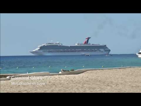 Carnival ship appears in a Latin TV SHOW