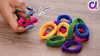 Amazing decorating idea with Hair rubber bands | DIY art and craft | Artkala